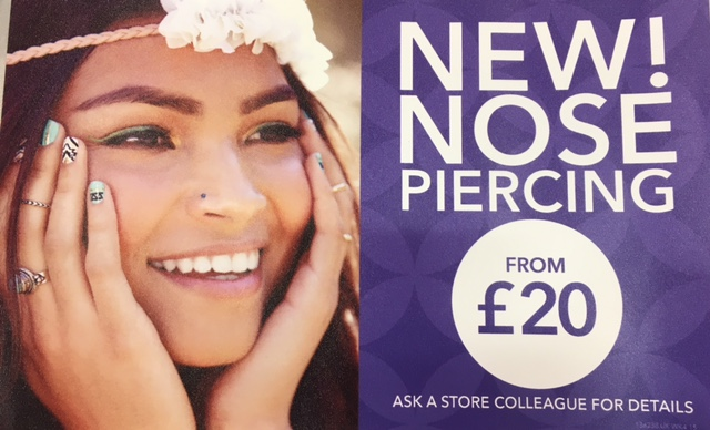 Nose Piercing Now Available At Claire S Coopers Square